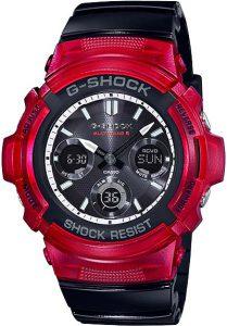Đồng Hồ Nam Casio G Shock AWG-M100SRB-4A Dây Nhựa Trong Màu Đen - Pin Năng Lượng Mặt Trời,sử dụngMultiband 6 nhận sóng radio, Size52 × 46,4 × 14,9 mm,5 báo thức thời gian (có chức năng đếm ngược), tín hiệu thời gian.