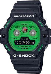 Đồng Hồ Nam Casio G Shock DW-5900RS-1 Dây Nhựa Màu Đen - Nền Mặt Màu Xanh, Tuổi Thọ Pin 5 Năm, chống nước 200m, Kích thước (H × W × D): 51,4 × 46,8 × 15,5 mm,Hẹn giờ (đơn vị đặt: 1 phút, đặt tối đa: 24 giờ, tính bằng đơn vị 1 giây)