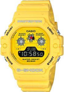 Đồng Hồ Nam Casio G Shock DW-5900RS-9 Dây Nhựa và Nền Mặt Màu vàng, Tuổi Thọ Pin 5 Năm, chống nước 200m, Kích thước (H × W × D): 51,4 × 46,8 × 15,5 mm,Hẹn giờ (đơn vị đặt: 1 phút, đặt tối đa: 24 giờ, tính bằng đơn vị 1 giây)