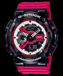 Đồng Hồ Nam Casio G Shock GA-110RB-1A Dây Nhựa Màu Đỏ - Chống Từ- Chống Nước 200m, Kích thước vỏ (H × W × D): 55 × 51,2 × 16,9mm,Hẹn giờ (đơn vị đặt: 1 phút, đặt tối đa: 24 giờ, tính bằng đơn vị 1 giây, tự động lặp lại).