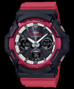 Đồng Hồ Nam Casio G Shock GAW-100RB-1A Dây Nhựa Màu Hồng - Pin Năng Lượng Mặt Trời,Size55,1 × 52,5 × 16,7 mm, chống nước 200m,5 báo động thời gian (với chức năng đếm ngược) · tín hiệu thời gian Hiển thị chỉ báo pin.