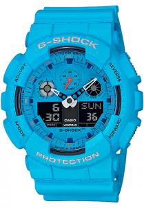 Đồng Hồ Nam Casio G Shock GA-100RS-2A Dây Nhựa Màu Xanh - Chống Từ- Chống Nước 200m,Kích thước (H x W x D): 55 x 51,2 x 16,9 mm, Tuổi thọ pin: khoảng 2 năm,5 báo thức thời gian (chỉ có một chức năng báo lại), tín hiệu thời gian,Lịch tự động đầy đủ.
