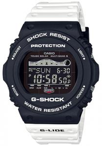 Đồng Hồ Casio Nam G Shock GWX-5700SSN-1DF dây nhựa màu trắng, pin năng lượng mặt trời, đồng hồ điều khiển bằng sóng vô tuyến,Kích thước vỏ : 48,9×45,4×14,2mm,5 chế độ báo thức hàng ngày (với 1 chế độ báo lặp),Tín hiệu thời gian hàng giờ.