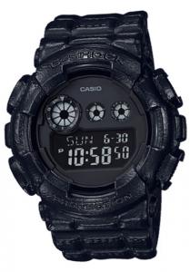Đồng Hồ Nam Casio G Shock GD-120BT-1DR Dây Nhựa - Đèn Nền LED - 5 Chế Độ Báo Thức, Kích thước vỏ: 55 × 51.2 × 17.4mm, Xấp xỉTuổi thọ pin: 7 năm trên CR2025,5 báo thức hàng ngày hoặc một lần,Tín hiệu thời gian hàng giờ,Toàn bộ lịch tự động.