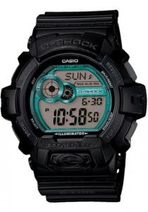 Đồng Hồ Nam Casio G Shock GLS-8900-1DR Dây Nhựa Màu Đen - Điểm Mặt Màu Xanh chống nước 200m, sử dụng trong điều khiện khắc nghiệt,5 chế độ báo giờ hàng ngày riêng biệt (Một lần hoặc Hàng ngày),Tín hiệu thời gian hàng giờ.