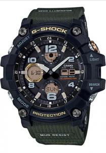 Đồng Hồ Nam Casio G Shock Mudmaster GSG-100-1A3 Dây Nhựa - Chống Bùn - Pin Năng Lượng,Pin Năng Lượng Mặt Trời - Hai Đèn Led - Chống Bùn, Kích thước vỏ : 56,2×54,9×17,3mm,5 chế độ báo thức hàng ngày,Tín hiệu thời gian hàng giờ.