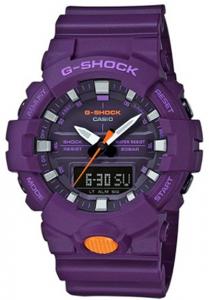 Đồng Hồ Nam Casio G Shock GA-800SC-6ADR Dây Nhựa Màu Tím - Hai Đèn Led,chống nước 200m, size mặt với kích thước: 54,1×48,6×15,5mm, tuổi thọ pin 3 năm,5 chế độ báo thức hàng ngày,Tín hiệu thời gian hàng giờ.