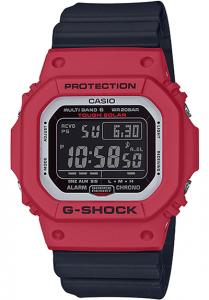 Đồng Hồ Nam Casio G-Shock GW-M5610RB-4DF Mặt Vuông Màu Đỏ - Dây Nhựa Màu Đen - Pin Năng Lượng Mặt Trời, Kích thước (H x W x D): 46,7 x 43,2 x 12,7 mm,5 báo thức thời gian (chỉ có một chức năng báo lại), tín hiệu thời gian,Hiển thị chỉ báo pin.