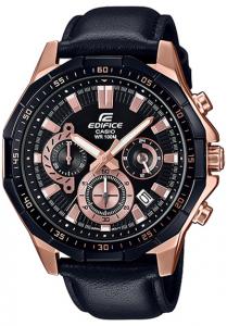 Đồng Hồ Nam Casio Edifice EFR-554BGL-1AV dây da thật - mặt số họa tiết đĩa phanh mặt và gờ mạ vàng size47,1mm,Hiển thị ngày,Giờ hiện hành thông thường,Đồng hồ kim: 3 kim (giờ, phút, giây),3 mặt số (phút bấm giờ, giây bấm giờ, 24 giờ).