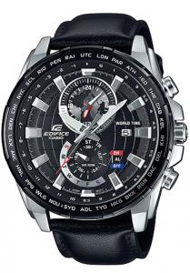 Chiếc Đồng hồ Casio Edifice EFR-550L-1AVUDF,Mặt kính khoáng,Gờ mạ ion màu đen,Khả năng chống nước ở độ sâu 100 mét,Hiển thị ngày,Giờ hiện hành thông thường,Đồng hồ kim: 3 kim (giờ, phút, giây),2 mặt số (giờ và phút theo giờ thế giới, thứ).