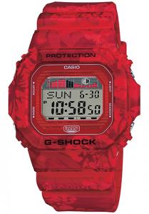 Đồng Hồ Casio Nam G Shock GLX-5600F-4DR Dây Nhựa Màu Đỏ - Mặt Vuông - Đồ Thị Thuỷ Triều, Kích thước vỏ:46,7×43,2×12,7mm, chống nước 200m,3 chế độ báo đa chức năng riêng biệt (2 chế độ báo một lần và 1 chế độ báo lặp),Tín hiệu thời gian hàng giờ.
