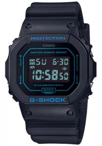 Đồng Hồ Nam Casio G Shock DW-5600BBM-1DF Dây Nhựa Màu Đen - Viền Mặt Màu Xanh - Chống Nước 200m, Kích thước (H x W x D): 48,9 x 42,8 x 13,4 mm,Báo giờ đa chức năng,Tín hiệu thời gian hàng giờ,Lịch hoàn toàn tự động.