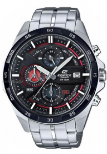 Đồng Hồ Nam Casio Edifice EFR-556DB-1AVUDF với mặt đồng hồ nhiều lớp, dây đeo kim loại size mặt 48,7mm,Hiển thị ngày,Giờ hiện hành thông thường,Đồng hồ kim: 3 kim (giờ, phút, giây),3 mặt số (phút bấm giờ, giây bấm giờ, 24 giờ).
