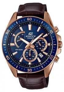 Đồng hồ Casio Edifice EFR-552GL-2AVkiểu dáng sang trọng, lịch lãm những vẫn mang đậm nét nam tính,Hiển thị ngày,Giờ hiện hành thông thường,Đồng hồ kim: 3 kim (giờ, phút, giây),3 mặt số (phút bấm giờ, giây bấm giờ, 24 giờ).