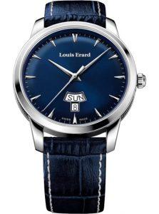 Đồng hồ Louis Erard 15920AA05.BEP102 đồng hồ 3 kim, Lịch hiển thị ngày, chống nước 50m, Dây đồng hồ dây da; Vật liệu vỏ : Thép không gỉ